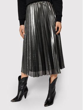 Pennyblack Pennyblack Πλισέ φούστα Nuvoloso 11040420 Ασημί Regular Fit