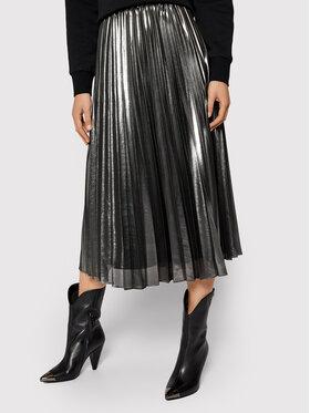 Pennyblack Pennyblack Spódnica plisowana Nuvoloso 11040420 Srebrny Regular Fit