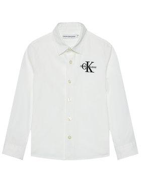 Calvin Klein Jeans Calvin Klein Jeans Košeľa Hybrid Chest Logo IB0IB00830 Biela Regular Fit