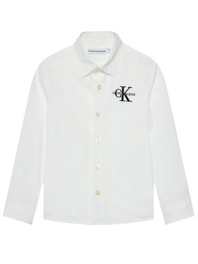 Calvin Klein Jeans Calvin Klein Jeans Koszula Hybrid Chest Logo IB0IB00830 Biały Regular Fit
