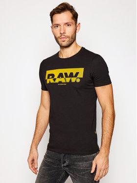 G-Star Raw G-Star Raw T-Shirt Graphic D17689-336-6484 Czarny Slim Fit
