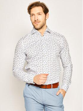 Strellson Strellson Риза Sereno 30020147 Бял Slim Fit