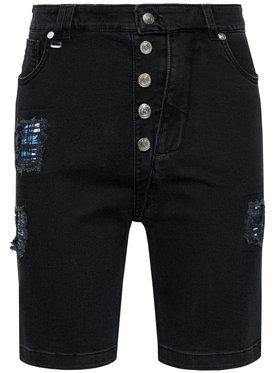 Rage Age Rage Age Szorty jeansowe Orian 1 Czarny Slim Fit