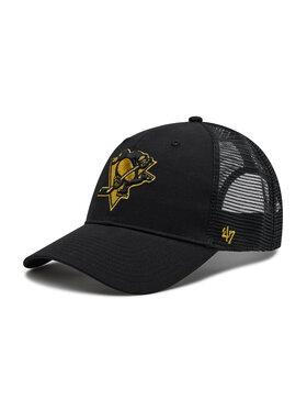 47 Brand 47 Brand Шапка с козирка Brand NHL Pittsburgh H-BRMTL15CTP-BK Черен