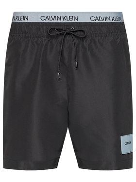 Calvin Klein Swimwear Calvin Klein Swimwear Szorty kąpielowe Medium Double Wb KM0KM00572 Czarny Regular Fit