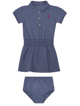 Polo Ralph Lauren Polo Ralph Lauren Robe de jour Ss Smock 310785479003 Bleu Regular Fit