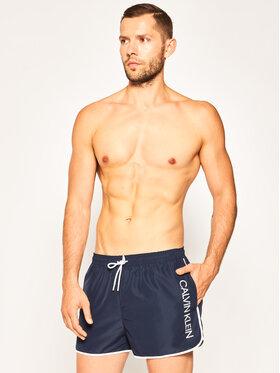 Calvin Klein Swimwear Calvin Klein Swimwear Плувни шорти KM0KM00439 Тъмносин Regular Fit