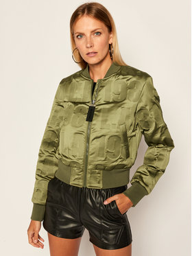 Guess Guess Bomber striukė Elly W0YL59 WD1V0 Žalia Regular Fit
