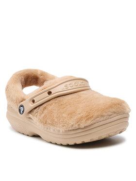 Crocs Crocs Шльопанці Classic Fur Sure 207303 Бежевий
