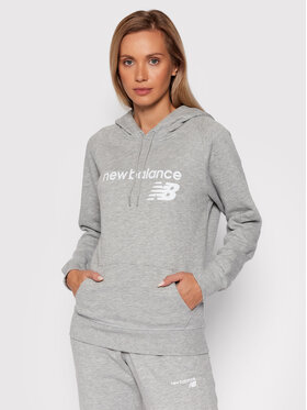 New Balance New Balance Bluza Classic Core Fleece WT03810 Szary Relaxed Fit