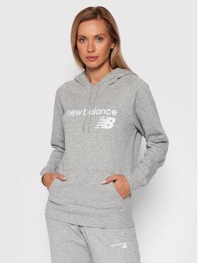 New Balance New Balance Majica dugih rukava Classic Core Fleece WT03810 Siva Relaxed Fit