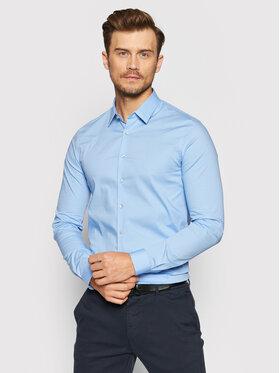 Calvin Klein Calvin Klein Košile Logo Stretch K10K107346 Modrá Extra Slim Fit