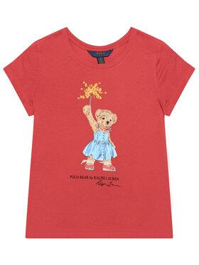 Polo Ralph Lauren Polo Ralph Lauren T-Shirt Bear Tee 311790444002 Rot Regular Fit