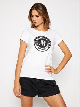 John Richmond John Richmond T-Shirt Suares UWA20131TS Biały Regular Fit