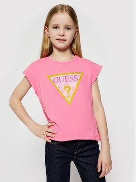 Guess Guess T-Shirt J1RI26 K6YW1 Różowy Regular Fit