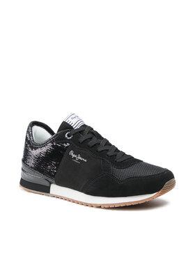 Pepe Jeans Pepe Jeans Sneakersy Archie Sequins PLS31204 Černá