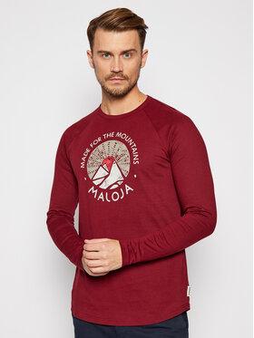 Maloja Maloja Тениска с дълъг ръкав SamdrupM 30502-1-8327 Бордо Regular Fit