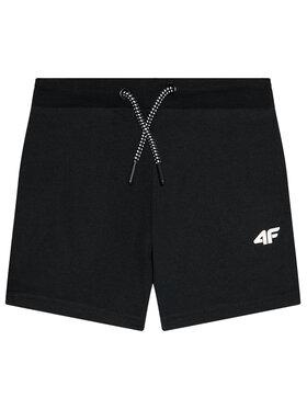 4F 4F Pantaloni scurți sport HJL21-JSKMD001A Negru Regular Fit