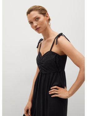 Mango Mango Sukienka letnia Ines 87049203 Czarny Relaxed Fit