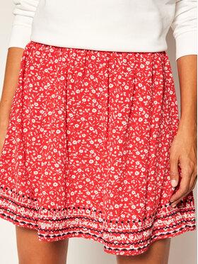 Tommy Jeans Tommy Jeans Trapézová sukně Embroidery Detai DW0DW08145 Červená Regular Fit