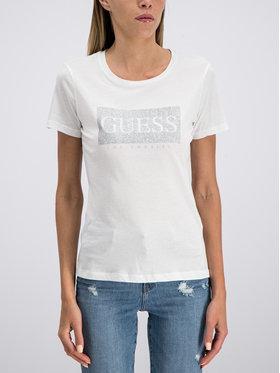 Guess Guess T-shirt W93I80 K7WS0 Bianco Slim Fit