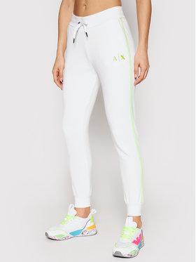 Armani Exchange Armani Exchange Teplákové kalhoty 3KYP85 YJ3NZ 1100 Bílá Regular Fit