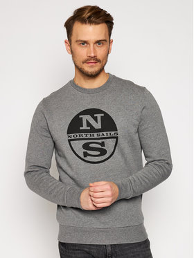 North Sails North Sails Sweatshirt Graphic 691542 Grau Regular Fit