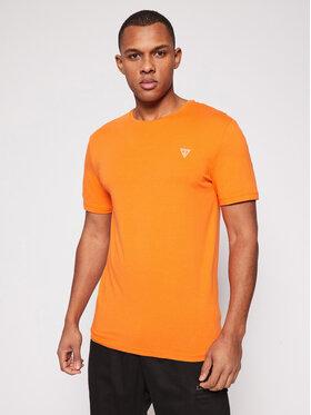 Guess Guess Póló U94M09 K6YW1 Narancssárga Regular Fit