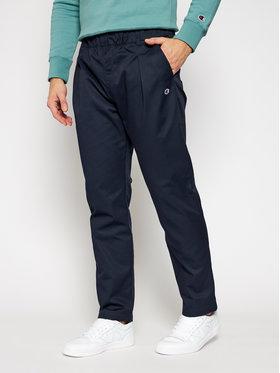 Champion Champion Spodnie materiałowe Tapered Woven 215331 Granatowy Custom Fit