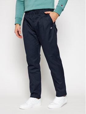 Champion Champion Текстилни панталони Tapered Woven 215331 Тъмносин Custom Fit