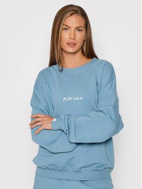 PLNY LALA PLNY LALA Pulóver Flora PL-BL-FO-00023 Kék Oversize
