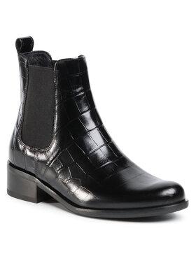 Gino Rossi Gino Rossi Kotníková obuv s elastickým prvkem 8484-05A Černá