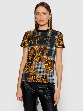 Versace Jeans Couture Versace Jeans Couture Tricou 71HAH613 Negru Regular Fit