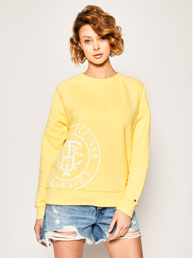 TOMMY HILFIGER TOMMY HILFIGER Суитшърт Vincy Sweatshirt WW0WW27594 Жълт Regular Fit
