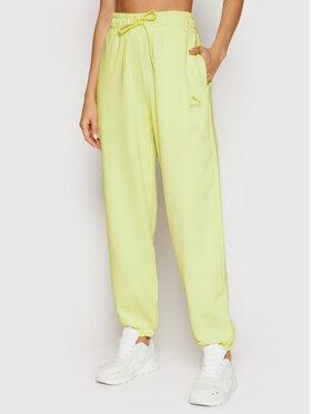 Puma Puma Teplákové kalhoty Classics 530416 Žlutá Relaxed Fit