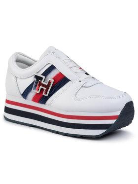TOMMY HILFIGER TOMMY HILFIGER Sneakersy Tommy Customize Flatform Sneaker FW0FW04595 Bílá