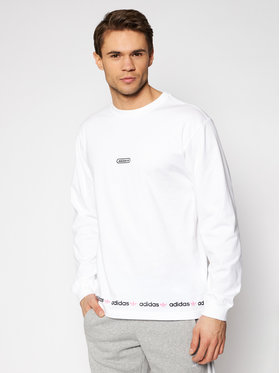 adidas adidas Longsleeve Linear Repeat GN3880 Weiß Regular Fit