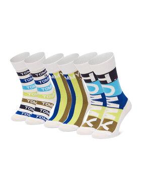 Tommy Hilfiger Tommy Hilfiger Set di 3 paia di calzini lunghi da bambini 100002315 Bianco