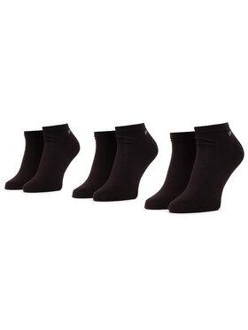 Lee Cooper Lee Cooper Súprava 3 párov kotníkových ponožiek unisex Snesocks 1802 Čierna