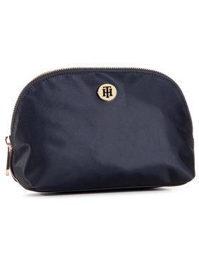 Tommy Hilfiger Tommy Hilfiger Pochette per cosmetici Poppy Washbag Corp AW0AW08908 Blu scuro