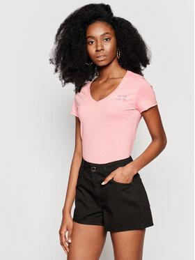 Pepe Jeans Pepe Jeans T-Shirt Bleu PL504820 Różowy Slim Fit