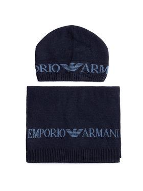Emporio Armani Emporio Armani Комплект шал и шапка 628001 0A850 00035 Тъмносин