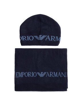 Emporio Armani Emporio Armani Set Schal und Mütze 628001 0A850 00035 Dunkelblau