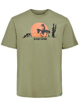 Only & Sons ONLY & SONS T-Shirt Lucky Luke 22019234 Grün Regular Fit