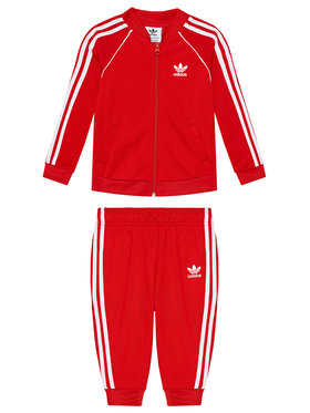 adidas adidas Dres Unisex adicolor Sst Track GN8439 Czerwony Regular Fit