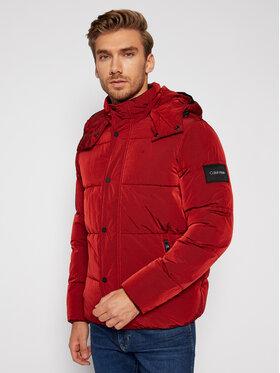 Calvin Klein Calvin Klein Vatovaná bunda Crinkle Mid Length K10K105970 Červená Regular Fit