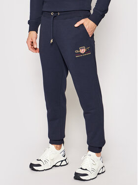 Gant Gant Pantalon jogging Archive Shield 2049005 Bleu marine Regular Fit
