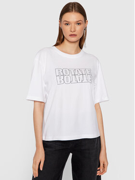 ROTATE ROTATE T-Shirt Aster Tee RT443 Biały Loose Fit