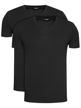 Dsquared2 Underwear Dsquared2 Underwear Komplet 2 t-shirtów DCX450030 Czarny Regular Fit