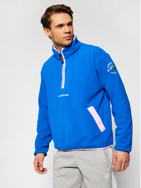 adidas adidas Felpa di pile Adventure GN2374 Blu Regular Fit